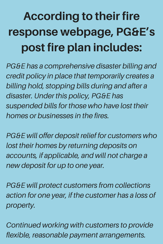pg&e fire response
