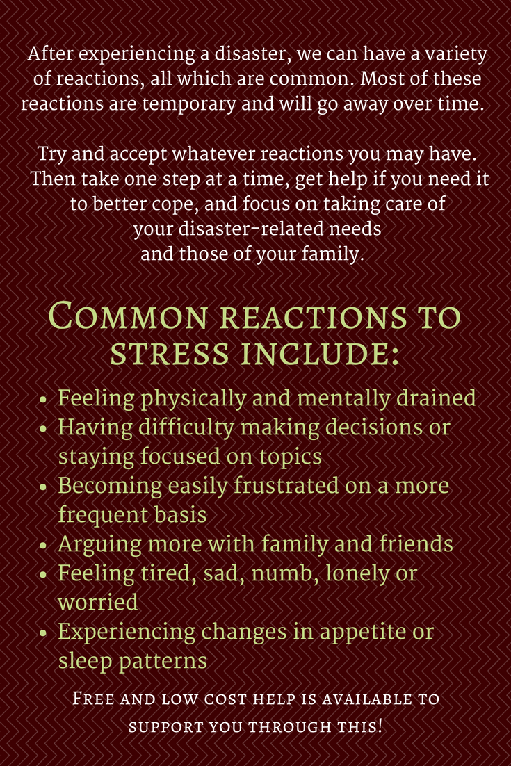 common reactions to stress