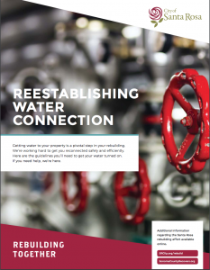 Re-establishing your water connection