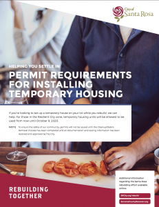 Permit Requirements for Installing Temporary Housing