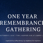 one year remembrance gathering