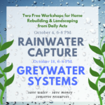 rainwater and greywater workshops