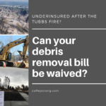 can your debris removal bill be waived?