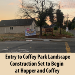 entry to Coffey Park landscape construction set to begin