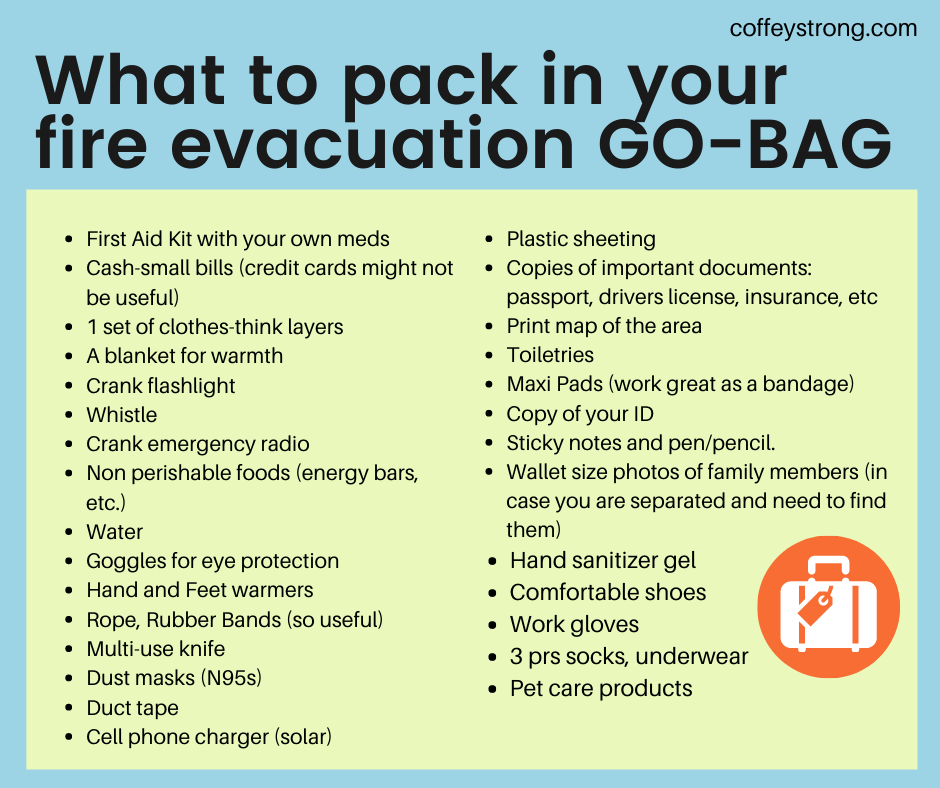 list of what to pack in a go bag
