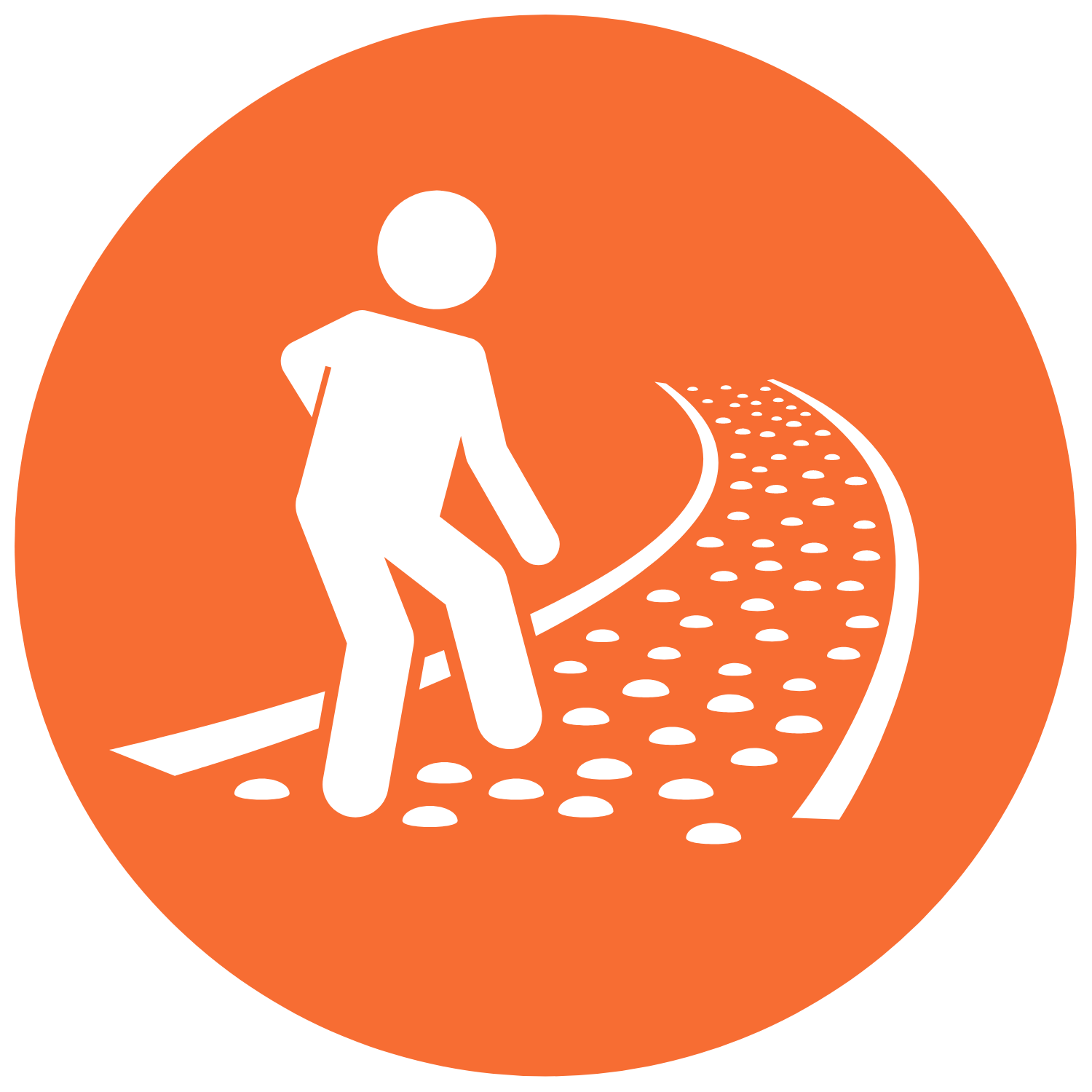 walking a path icon
