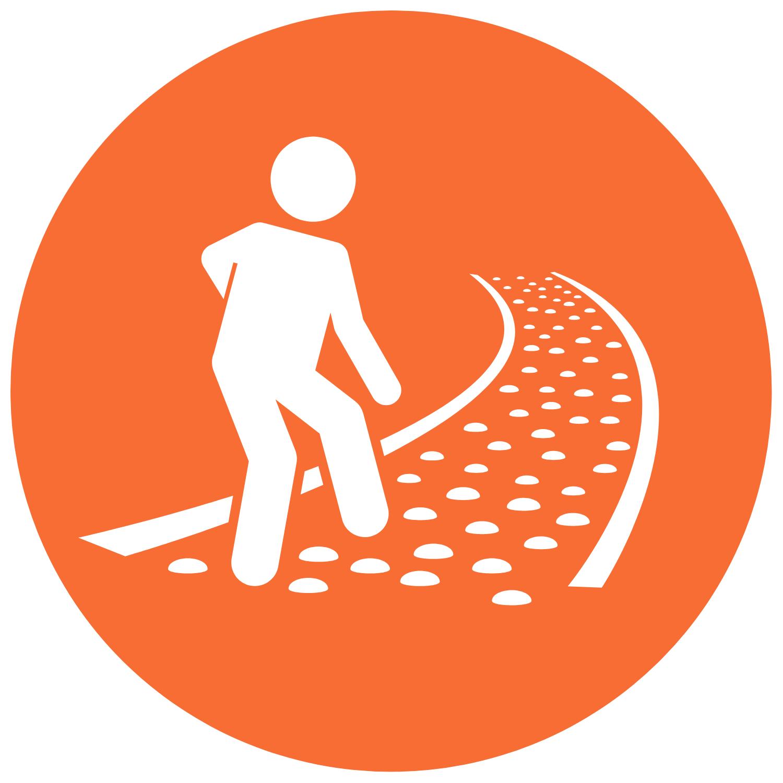walking a path icon