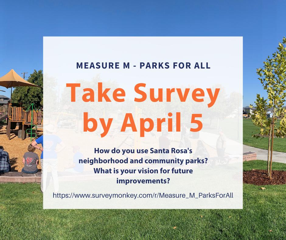 take survey by April 5 graphic